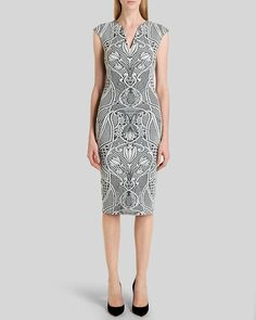Ted Baker Dress - Sancha Woven Midi | Bloomingdale's
