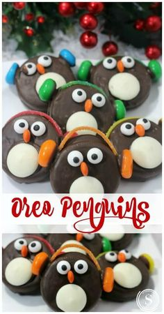 Oreo Penguins Recipe for the Holidays! Snow Day Treat or a FUN Christmas Party T… Recette de pingouins Oreo pour … Christmas Treats To Make, Christmas Snacks, Xmas Food, Christmas Cooking, Christmas Goodies, Christmas Fun, Christmas Tables, Nordic Christmas, Modern Christmas
