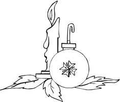 Christmas Ornaments Coloring Sheets