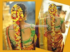 Latest Indian Clothing And Jewellery Designs South Indian Wedding Hairstyles, Bride Hairstyles, Indian Outfits, Jewelry Design, Jewellery, Bridal, Type 1, Hair Styles, Theater