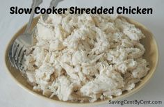 This is an easy way how to shred chicken that only takes minutes to throw it in the crock pot.