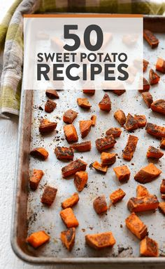 Sweet potatoes for every meal of the day (+ snacks and dessert! We rounded up 50 of our favorite healthy sweet potato recipes from Fit Foodie Finds . Sweet Potato Breakfast, Breakfast Lunch Dinner, Breakfast Recipes, Low Sugar Recipes, Clean Eating Recipes, Cooking Recipes, Sweet Potato Recipes Healthy, Healthy Recepies, Cooking Sweet Potatoes