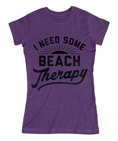 96c34b6d824 LC Trendz Junior s Heather Purple  Beach Therapy  Fitted Tee