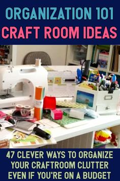 Craft Room Organization - Unexpected & Creative Ways to Organize Your Craftroom on a Budget - Organization 101 / Craft Room Ideas / 47 Clever Ways To organize Your Craftroom Clutter Even If You - Craft Room Decor, Craft Room Storage, Storage Ideas, Budget Organization, Bedroom Organization, Master Bedroom Makeover, Hobby Room, Organizing Your Home, Organizing Ideas