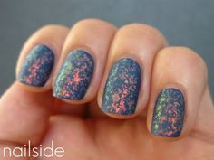 Nailside: China Glaze - First Mate + Gosh - Rainbow