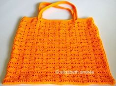 Orange Spider Bag by Elisabeth Andrée, with instructions and chart diagram