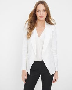 White Linen-Blend Trophy Jacket - $89.99