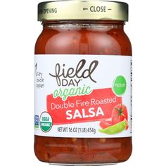 Field Day Salsa - Organic - Double Fire Roasted - Medium - 16 Oz - Case Of 12