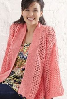 Free Knitting Pattern for a Bright And Breezy Kimono