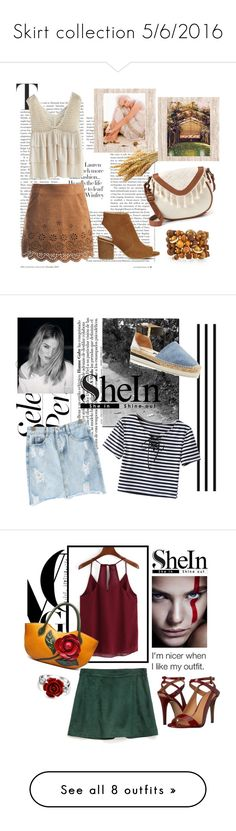 """""""Skirt collection 5/6/2016"""" by mia-de-neef ❤ liked on Polyvore featuring Sans Souci, Office, Chicwish, T-shirt & Jeans, Emily & Ashley, See by Chloé, Bling Jewelry, Zara, Calvin Klein and Moschino"""