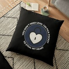 'Pickpocket Skill Funny Meme Gamer ' Floor Pillow by Floor Pillows, Throw Pillows, Funny Memes, Game, Printed, Awesome, People, Design, Products