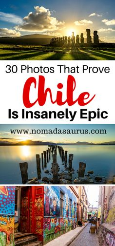 Beaches, mountains, art, history, glaciers, lakes, deserts and cuisine – no matter what your interests are, you'll be sure to find pure happiness in Chile. This photo essay of Chile will make you want to go there is a heart beat. It'll show you some of the best places to visit in Chile, South America.