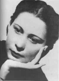 "Alfonsina Storni. Argentinian although born in Switzerland. 1892-1938. Poet. Books: La inquietud del rosal (""The Restlessness of the Rose""), El dulce daño (""Sweet injury""), Irremediablemente (""Irremediably""), Languidez (""Languidness""), Ocre (""Ochre""), Poemas de amor (""Love poems""), El amo del mundo: comedia en tres actos (""Master of the world""), Dos farsas pirotécnicas (""Two pyrotechnic farces""), Mundo de siete pozos (""World of seven wells""), Mascarilla y trébol (""Mask and trefoil"")"