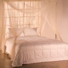 Palace Four-poster Bed Canopy & Woven Polyester Four-Point Bed Canopy (76u0027u0027 x 84u0027u0027 x 96 ...