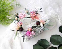 Wedding Flower Crowns and Bridal Headpieces от LisaUaShop на Etsy Fuchsia Flower, Burgundy Flowers, Bridesmaid Flowers, Bridal Flowers, Flower Girl Crown, Flower Crowns, Floral Crown Wedding, Flower Headpiece, Bridal Headpieces