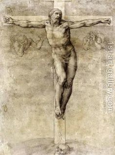 Christ On The Cross 1541 - Michelangelo - Oil Painting Reproductions