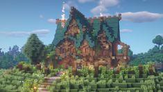 Villa Minecraft, Minecraft House Plans, Minecraft Mansion, Minecraft Structures, Minecraft Cottage, Cute Minecraft Houses, Amazing Minecraft, Minecraft Architecture, Minecraft Blueprints