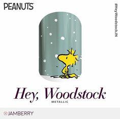 Hey, Woodstock | Jamberry Peanuts Collection metallic