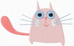 Cute small cat free machine embroidery design. Machine embroidery design. www.embroideres.com