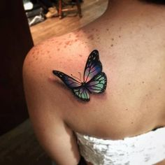 They tattooed a spotlight onto the butterfly. That's what's astounding about this one!