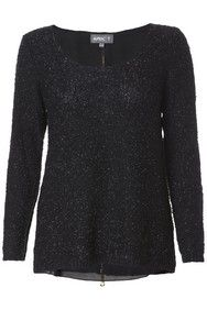 Apricot Black Textured Knit Zip Jumper  http://www.apricotonline.co.uk/mall/productpage.cfm/womensclothing/_5051839147416/461698/Black-Textured-Knit-Zip-Jumper