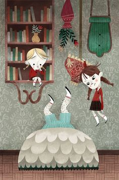David Sierra Listón - Ilustración People Illustration, Children's Book Illustration, Digital Illustration, Cartoon Kids, Cute Cartoon, David Sierra, Whimsical Christmas, Children's Picture Books, Childrens Books