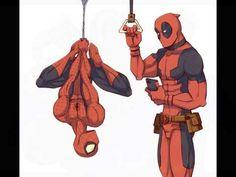 Deadpool and Spiderman Yaoi ART