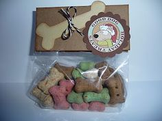 Create A Critter doggie treat bags - great hostess gifts or stocking stuffers for pet owners