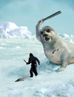 Talented BioGems Defender Larry Torro created this image. You can write to the Canadian prime minister asking him to stop the hunt of baby seals at this email address: pm@pm.gc.ca   SaveBiogems.org