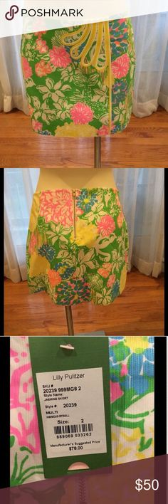 Lilly P. Jasmine Skort Multi Hibiscus Stroll ACCEPTING OFFERS! NWT Lilly Pulitzer Skirts