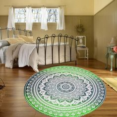 Indian Mandala Tapestry Hippie Wall Hanging Blue Bohemian Bedspread Dorm Decor #Unbranded #BaroqueRococoStyle