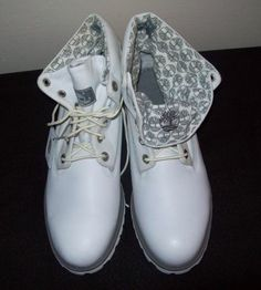 """Mens TIMBERLAND Boots 8"""" Size 10M Leather Snow WHITE"""