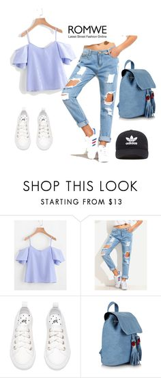 """""""Romwe"""" by kupom ❤ liked on Polyvore featuring adidas Originals"""