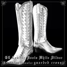 The essential silver cowboy boots