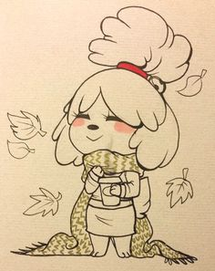 Isabelle Animal Crossing Fan Art, Animal Crossing Memes, Animal Crossing Characters, Animal Crossing Villagers, Animal Crossing Pocket Camp, Game Character, Character Design, Cross Art, Undertale Drawings