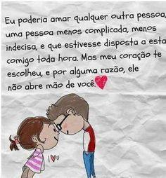 #Amor #Saudade #Frases #BiLopes Amar é....♥