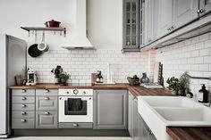 A Gray and White IKEA Kitchen Makeover | Pinterest | White ikea ...