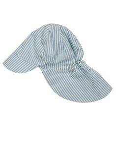 Frugi - Organic Cotton - Legionnaires Hat - Cornish Blue Ticking Stripe (Sizes 0-3yrs)