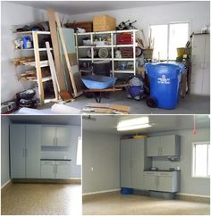before and after cabinets