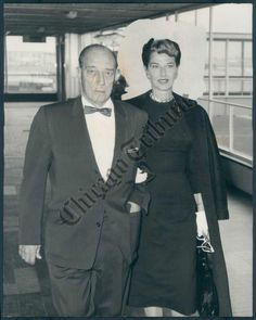 5th August 1959, A picture of American film comedian Buster Keaton pictured upon arrival at London airport from Paris for a private visit to London
