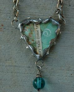Cute collage soldered heart