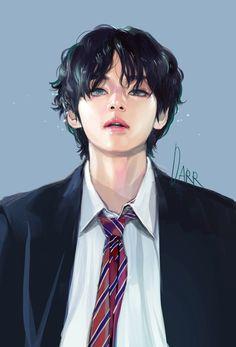 fan art Credits to the a - art Fanart Bts, Taehyung Fanart, V Taehyung, Bts Jungkook, Bts Chibi, Bts Art, Bts Fan Art, Bts Anime, V Bts Wallpaper