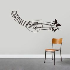 Butterfly Music Note Flying Bedroom Live Car Vinyl Decal Wall Quote Sticker // ebay shop:http://stores.ebay.com/leyintzonline