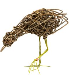 """""""With a background in traditional basket weaving and a real passion for willow, I am driven to make pieces that challenge preconceptions about basketry.""""   These enchanting willow birds blend seamlessly into both contemporary and more traditional interiors."""