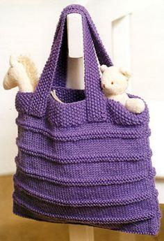 Modèle du sac du livre Le tricot c'est facile                                                                                                                                                      Plus