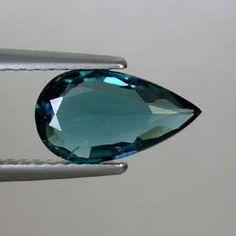 Indicolite Blue Natural Tourmaline AAA Pear Cut