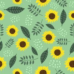 Sun Flowers Seamless Pattern With Cute Drawing Botanical Decoration Flor Iphone Wallpaper, Flower Wallpaper, Watercolor Sunflower, Watercolor Flowers, Cute Patterns Wallpaper, Background Patterns, Flower Backgrounds, Colorful Backgrounds, Black Eyed Susan Flower