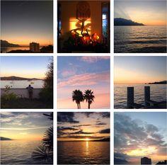 Octobre sur Instagram | Terraroom -> greenlife, couleurs d'automne, récapitulatif du mois, photos Instagram, automne 2016, Riviera, région du Léman, lac Léman, collection de couchers de soleil, coucher de soleil sur le lac, explorer la Suisse