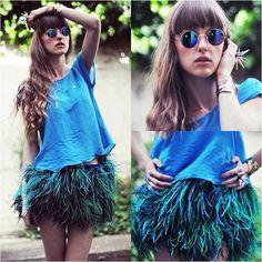 DIY peacock skirt