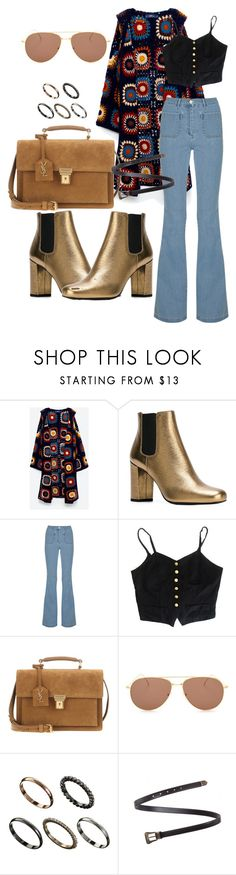 """Untitled #231"" by veronice-lopez ❤ liked on Polyvore featuring Yves Saint Laurent, Michael Kors, Illesteva, ASOS and vintage"